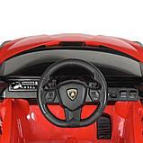 Дитячий електромобіль на акумуляторі Lamborghini M 4530 з пультом радіоуправління для дітей 3-8 років червона, фото 6