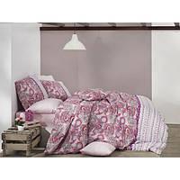 Постельное белье Nazenin Ranforce - Violet розовое евро