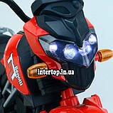 Детский электромотоцикл двухколесный на аккумуляторе BMW M 4621EL для детей 3-8 лет синий, фото 6