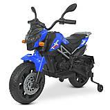 Детский электромотоцикл двухколесный на аккумуляторе BMW M 4621EL для детей 3-8 лет синий, фото 7