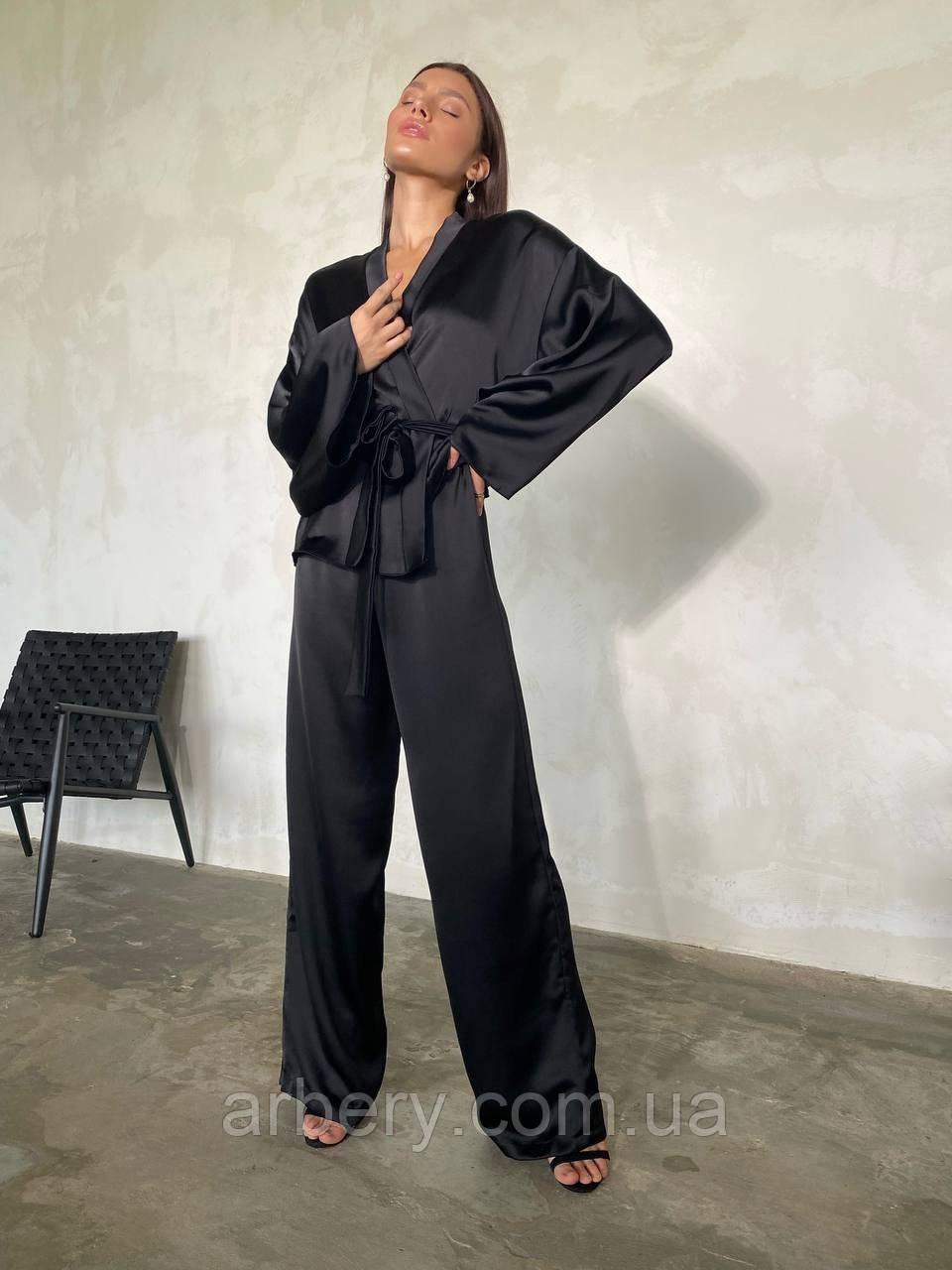 Шикарний сатиновий костюм-кимано