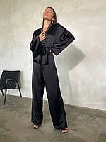 Шикарний сатиновий костюм-кимано, фото 1