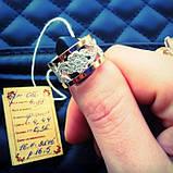 """Серебряный комплект """"Удовольствие"""" с золотыми накладками женский, фото 4"""