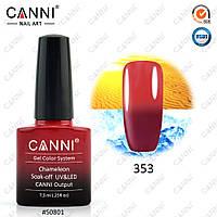 Термо гель-лак Canni 353 (вишневый - светлый красный)
