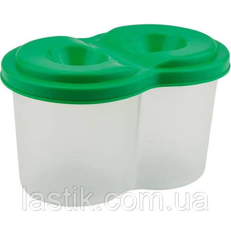 Стакан-непроливайка двойной, зеленый, фото 2