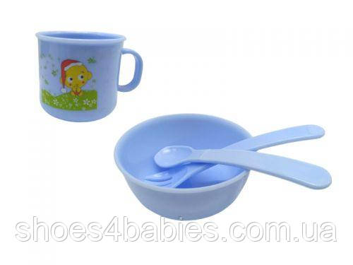 """Набор посуды для детей """"Honey Baby"""" (синий)"""
