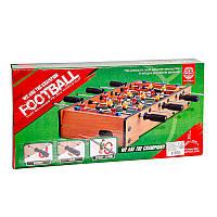 Настольная детская игра кикер футбол на штангах деревянный 25х50х10 см | настольный футбол