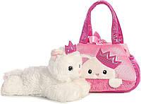 Мягкая игрушка Aurora Кошка в сумке переноске Aurora World Fancy Pals Pet Carrier, фото 1