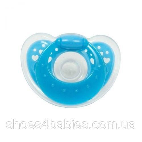 Пустушка силіконова кругла від 3 місяців (синій)