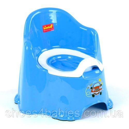 Горщик зі спинкою і кришкою Bimbo, блакитний