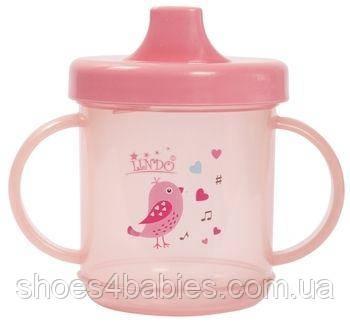 Чашка непроливайка з ручками 210 мл, рожевий