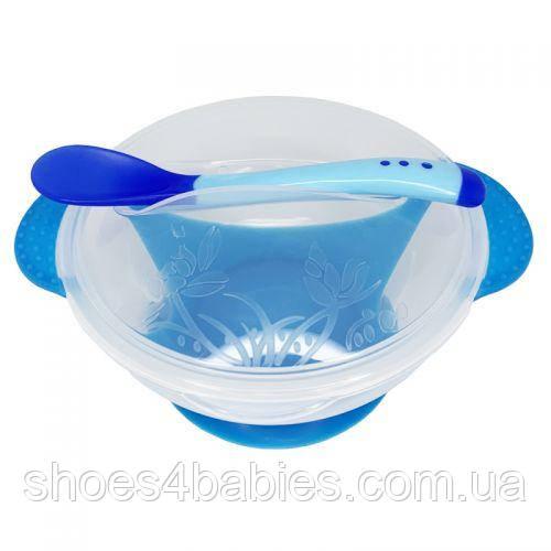 Набор для кормления, прозрачный, синий