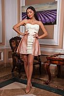 """Стильное молодежное платье мини со съемной юбкой """" Гипюр """" Dress Code"""