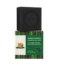 Мило ручної роботи SERSANLOVE Bamboo Charcoal Essential Oil Мило з ефірною олією бамбукового вугілля 100 гр