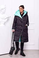 Стильная зимняя женская куртка-пальто норма и батал синтепон 300 новинка, фото 1