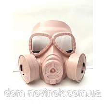 Маска пластик Респіратор/протигаз (рожева)
