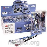 "Ручка ""пиши-стирай"" ""GP-34103D (Машини)"", синя, з брелоком"
