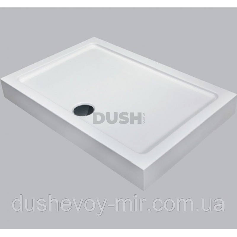 Душовий піддон Dusel D104 прямокутний 120х80х13,5 см