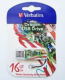 Флешка VERBATIM USB Drive 16 Gb STORE'N'GO MINI, Тату Рыба Кои, фото 3