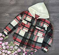 """Рубашка подростковая флисовая с капюшоном  на девочку 128-152 см (4цв) """"BOSCO"""" недорого от прямого поставщика"""