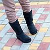 Натуральная замша высокие замшевые женские теплые серые угги зимняя классика, фото 10
