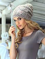 Красивая шапка крупной вязки с помпоном от Kamea - Julita.