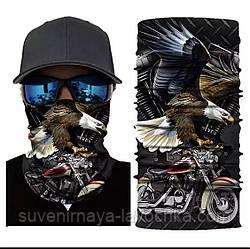 Мото бафф Eagle bike. Якісна маска на обличчя