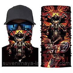 Мото бафф Hell rider. Якісна маска на обличчя