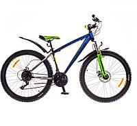 "Велосипед 26"" Formula BLIZZARD AM 14G DD рама-16"" St черно-синий с зеленым 2016"