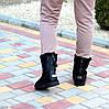 Люксові дублянка Натуральна шкіра жіночі чорні уггі зима 2021, фото 7