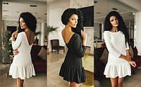 Платье с рюшами и открытой спиной