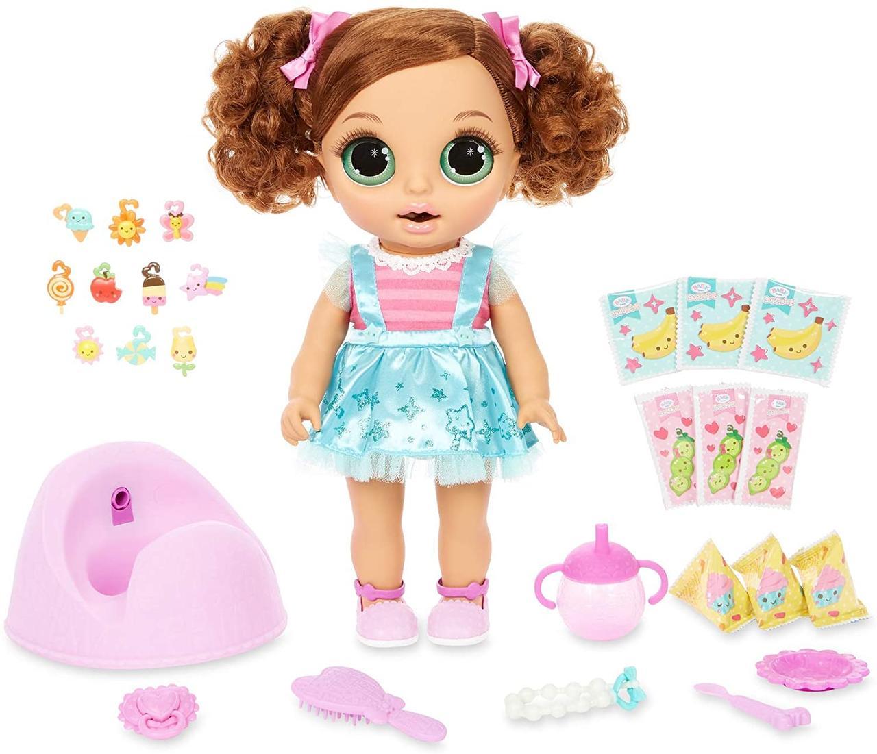 Кукла  Беби Борн Шатенка Принцесса и волшебный горшок 30 сюрпризов Baby Born Surprise Magic Potty Surprise