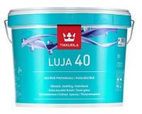 Краска для влажных помещений TIKKURILA LUJA 40  - ТИККУРИЛА ЛУЯ 40 интерьерная, полуглянцевая, А,9л