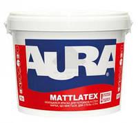 AURA Mattlatex Воднодисперсионная акрилатная матовая моющаяся краска для потолков и стен. 10 л.