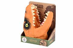 Іграшка-рукавичка Динозавр оранжевий