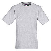 Футболка серого цвета, хлопок Heavy Super Club, размер M, футболки оптом недорого