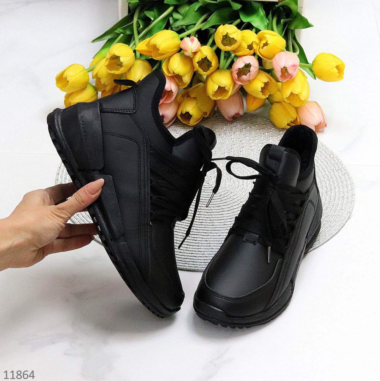 Модні спортивні зимові чорні жіночі черевики на блискавці зима 2021