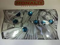 Скатерть с салфетками и кольцами MONALIT