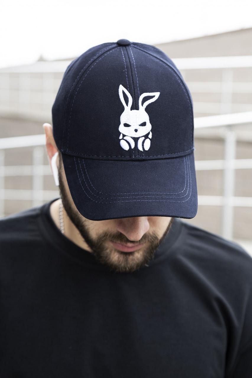 Кепка Intruder Bunny cиняя+ ключница в подарок