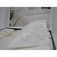 Постельное белье Nazenin Wedding сатин - Milena капучино евро