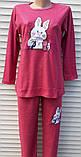 Женская кашемировая пижама Теплая пижама из натуральной ткани Зайчик L, фото 7