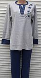 Женская кашемировая пижама Теплая пижама из натуральной ткани Синие звезды M, фото 5
