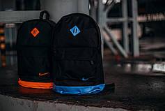 Рюкзак кож.дно черный / дно оранж, фото 3