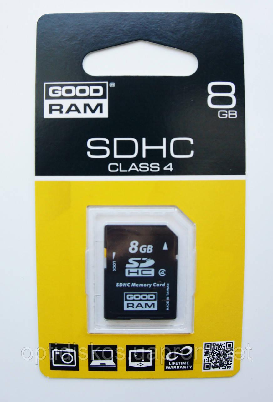 Карта памяти GoodRam SDHC 8Gb, Class 4