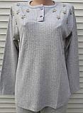 Женская кашемировая пижама Теплая пижама из натуральной ткани Ромашки L, фото 2
