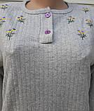 Женская кашемировая пижама Теплая пижама из натуральной ткани Ромашки L, фото 6