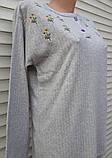 Женская кашемировая пижама Теплая пижама из натуральной ткани Ромашки L, фото 3