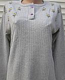 Женская кашемировая пижама Теплая пижама из натуральной ткани Ромашки L, фото 5