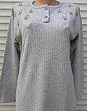 Женская кашемировая пижама Теплая пижама из натуральной ткани Ромашки L, фото 10