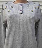 Женская кашемировая пижама Теплая пижама из натуральной ткани Ромашки L, фото 8
